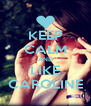 KEEP CALM AND LIKE CAROLINE - Personalised Poster A4 size