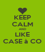 KEEP CALM AND LIKE CASE à CO - Personalised Poster A4 size