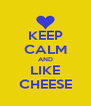 KEEP CALM AND LIKE CHEESE - Personalised Poster A4 size