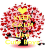 KEEP CALM And Like Cute Boys - Personalised Poster A4 size