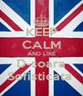 KEEP CALM AND LIKE D-soara Sofisticata  - Personalised Poster A4 size
