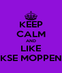 KEEP CALM AND LIKE DAGELIJKSE MOPPEN TAPPEN - Personalised Poster A4 size