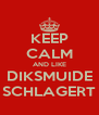 KEEP CALM AND LIKE DIKSMUIDE SCHLAGERT - Personalised Poster A4 size