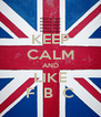 KEEP CALM AND LIKE F  B  C - Personalised Poster A4 size