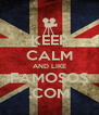 KEEP CALM AND LIKE FAMOSOS .COM - Personalised Poster A4 size