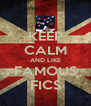 KEEP CALM AND LIKE FAMOUS FICS - Personalised Poster A4 size