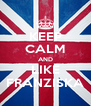 KEEP CALM AND LIKE FRANZISKA - Personalised Poster A4 size