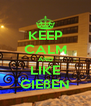 KEEP CALM AND LIKE GIEßEN - Personalised Poster A4 size