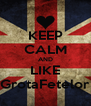 KEEP CALM AND LIKE GrotaFetelor - Personalised Poster A4 size