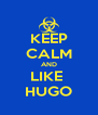 KEEP CALM AND LIKE  HUGO - Personalised Poster A4 size