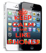 KEEP CALM AND LIKE IPHONES - Personalised Poster A4 size