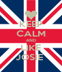 KEEP CALM AND LIKE JOSIE  - Personalised Poster A4 size