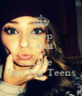 Keep Calm And Like Just For Teens - Personalised Poster A4 size