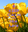 KEEP CALM AND like  Lara - Personalised Poster A4 size