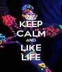KEEP CALM AND LIKE LIFE - Personalised Poster A4 size