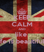 KEEP CALM AND like  Life is beautiful .  - Personalised Poster A4 size