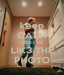 keep CALM AND LIKE LIK3 THE PHOTO - Personalised Poster A4 size