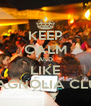 KEEP CALM AND LIKE MAGNÓLIA CLUB - Personalised Poster A4 size