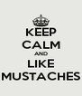 KEEP CALM AND LIKE MUSTACHES - Personalised Poster A4 size