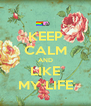 KEEP CALM AND LIKE MY LIFE - Personalised Poster A4 size
