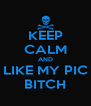 KEEP CALM AND LIKE MY PIC BITCH - Personalised Poster A4 size