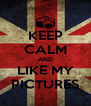 KEEP CALM AND LIKE MY PICTURES - Personalised Poster A4 size