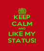 KEEP CALM AND LIKE MY STATUS! - Personalised Poster A4 size