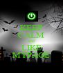 KEEP CALM AND LIKE MYPAGE - Personalised Poster A4 size