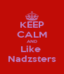 KEEP CALM AND Like  Nadzsters - Personalised Poster A4 size