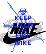 KEEP CALM AND LIKE NIKE - Personalised Poster A4 size