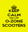 KEEP CALM AND LIKE O-ZONE SCOOTERS - Personalised Poster A4 size