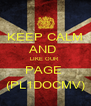 KEEP CALM AND  LIKE OUR  PAGE  (PL1DOCMV) - Personalised Poster A4 size