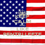 KEEP CALM AND LIKE PENTRU FETE - Personalised Poster A4 size