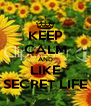 KEEP CALM AND LIKE SECRET LIFE - Personalised Poster A4 size