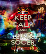 KEEP CALM AND LIKE SOCER - Personalised Poster A4 size