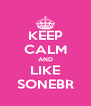 KEEP CALM AND LIKE SONEBR - Personalised Poster A4 size