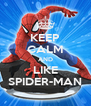 KEEP CALM AND LIKE SPIDER-MAN - Personalised Poster A4 size