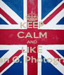 KEEP CALM AND LIKE Stefan G. Photography - Personalised Poster A4 size