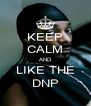 KEEP CALM AND LIKE THE DNP - Personalised Poster A4 size