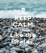 KEEP CALM AND Like the Pirates  - Personalised Poster A4 size
