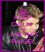 KEEP CALM  AND LIKE THIS PAGE! - Personalised Poster A4 size