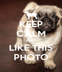 KEEP CALM AND LIKE THIS PHOTO - Personalised Poster A4 size