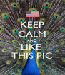 KEEP CALM AND LIKE  THIS PIC - Personalised Poster A4 size