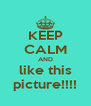 KEEP CALM AND like this picture!!!! - Personalised Poster A4 size