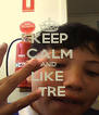 KEEP CALM AND  LIKE   TRE - Personalised Poster A4 size