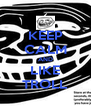 KEEP CALM AND LIKE TROLL - Personalised Poster A4 size