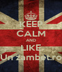 KEEP CALM AND LIKE Un zambet.ro - Personalised Poster A4 size