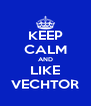 KEEP CALM AND LIKE VECHTOR - Personalised Poster A4 size