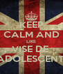 KEEP CALM AND LIKE VISE DE  ADOLESCENTI - Personalised Poster A4 size