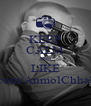 KEEP CALM AND LIKE www.facebook.com/AnmolChhabraPhotography - Personalised Poster A4 size
